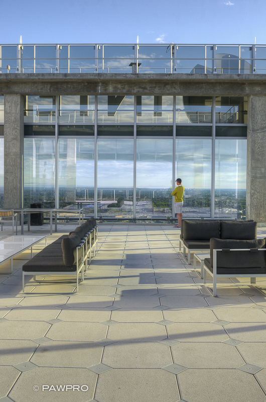 Tysons Tower rooftop patio.