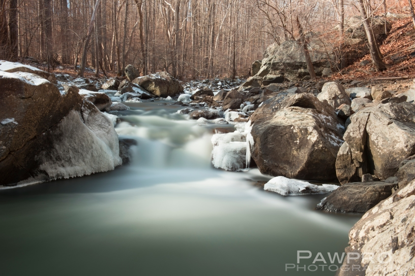 Difficult Run Stream Long Exposure with Ice